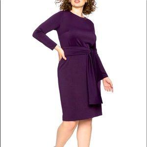 ELOQUII Plum Scuba Fall/Winter weight Dress (20)